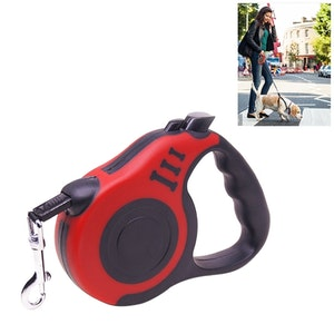 Utdragbart Hundkoppel 5m (röd)