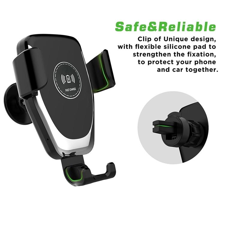 Trådlös billaddare mobilhållare Qi Universal
