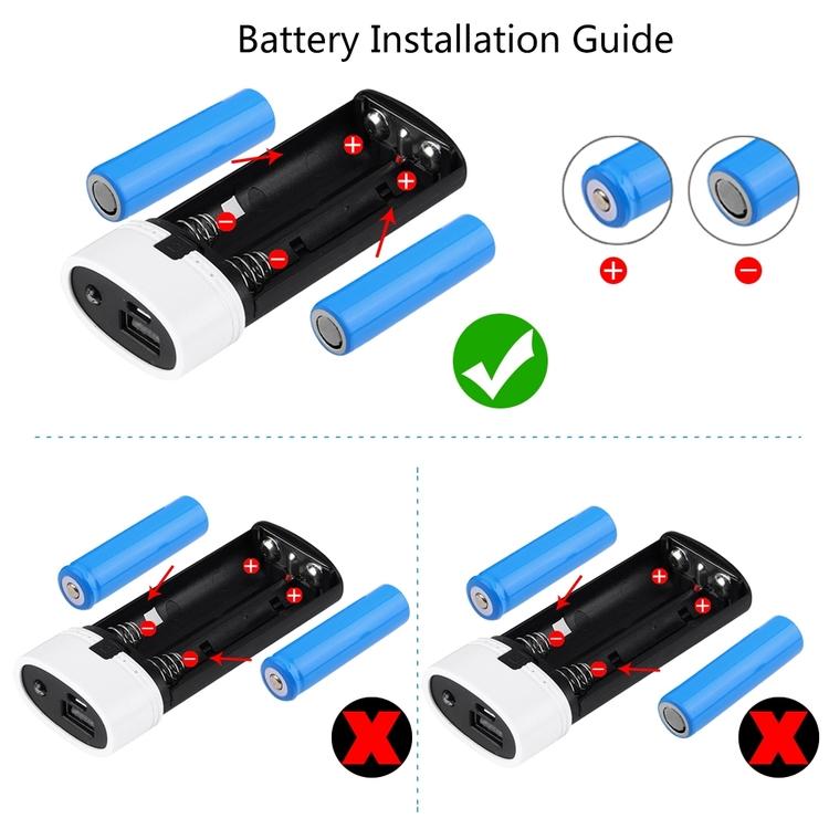 Powebank och laddare för batterier 18650
