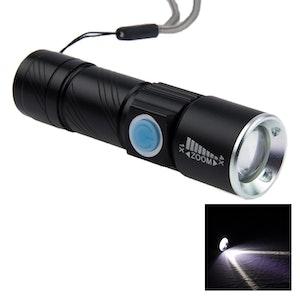 Uppladningsbar LED ficklampa CREE