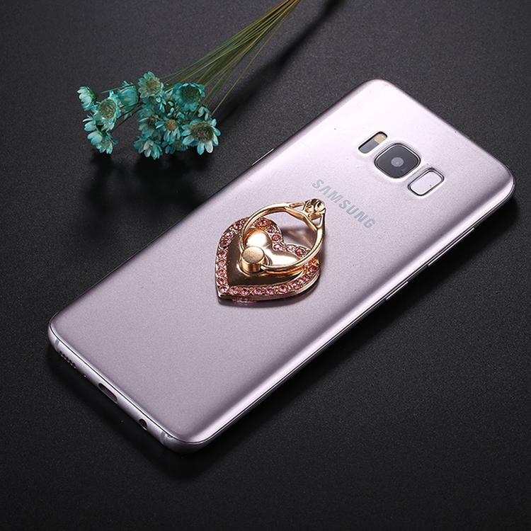 Mobilhållare Hjärtformad med ring Rosa