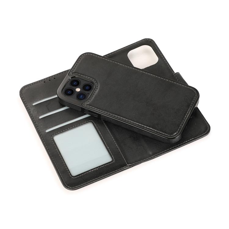 iPhone 12 Pro Max avtagbart magnetisk läderfodral med korthållare