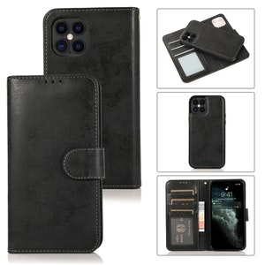 iPhone 13 / 12 Pro avtagbart magnetisk läderfodral med korthållare