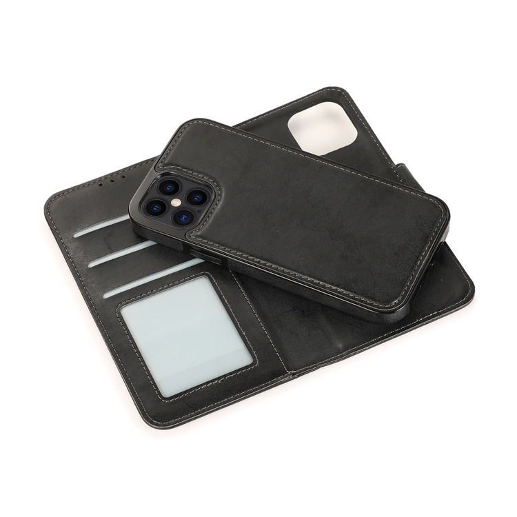 iPhone 12 Pro avtagbart magnetisk läderfodral med korthållare