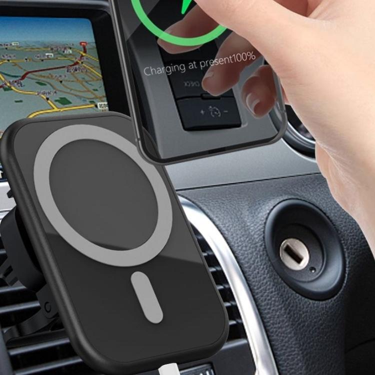 15W Magnetisk trådlös laddare / mobilhållare till bilen för iPhone 12-serien