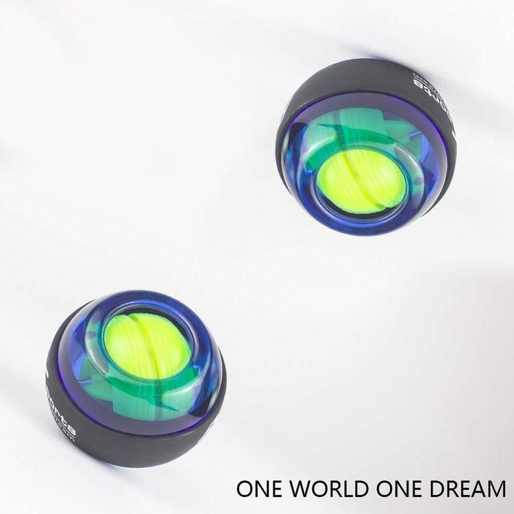 Gyroboll / Powerball handledsträning med roterande boll och LED (Blå)