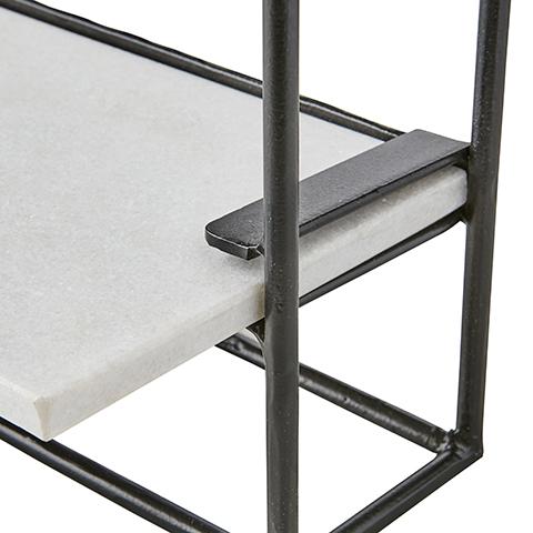 Milan Vägghylla vit marmor - Liten