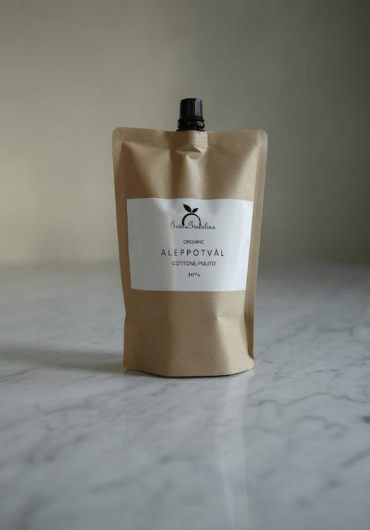 Refillpåse, Aleppotvål Ren bomull - Gröna Gredelina
