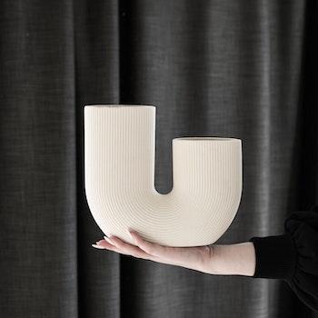 Beige keramikvas Stråvalla - Storefactory