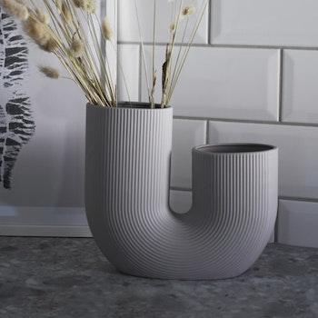 Grå keramikvas Stråvalla - Storefactory