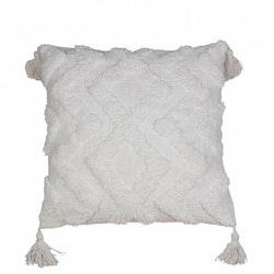 Cora Kuddfodral med tuftat mönster - Vit
