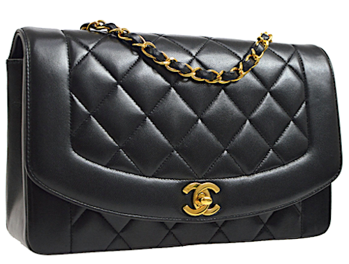 CHANEL DIANA CLASSIC SINGLE FLAP VÄSKA