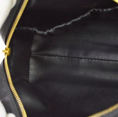 Chanel Caviar Läder CC Kosmetik Väska