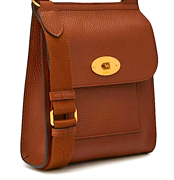 MULBERRY Small Antony Oak Natural Grain Leather
