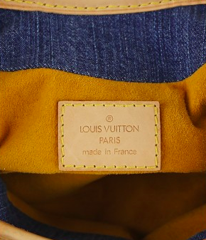 LOUIS VUITTON Blue Monogram Denim Pleaty Väska