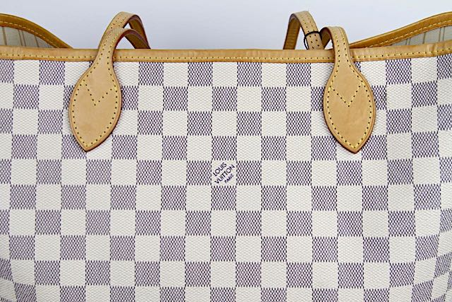 LOUIS VUITTON Neverfull MM Damier Azur Väska
