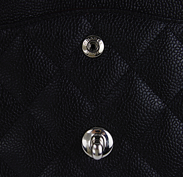 CHANEL Classic Jumbo Double Flap Bag Black Quilted Caviar Leather