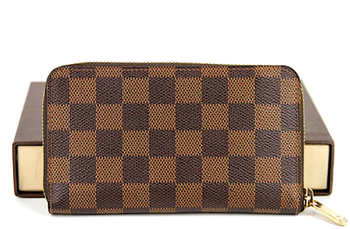 LOUIS VUITTON Plånbok Zippy Damier Canvas