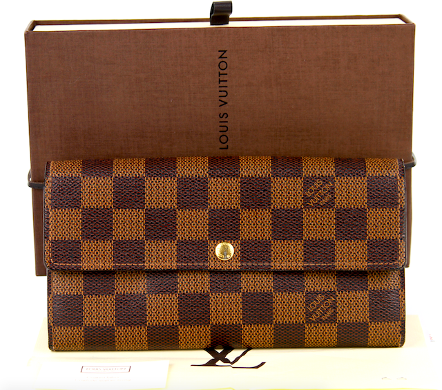 LOUIS VUITTON Sarah Plånbok Damier Canvas