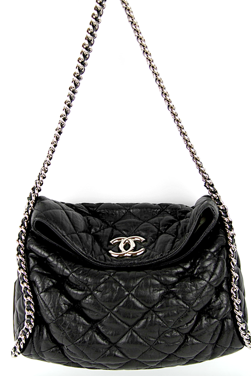 CHANEL Chain Around Hobo Bag Black Lammskinn