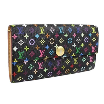 LOUIS VUITTON Black Monogram Multicolore Sarah Wallet