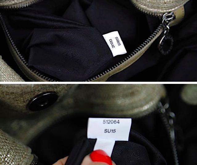 STELLA MCCARTNEY Guld 100 % Silk Liten Falabella Väska
