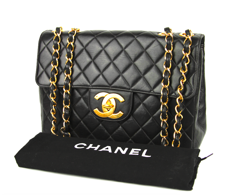 CHANEL Classic Jumbo Vintage Single Flap Väska