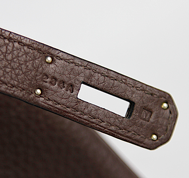 HERMÈS 35cm Choklad Togo Läder  Palladium Hardware Birkin Bag