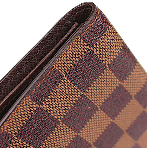 LOUIS VUITTON Porte-cartes Lång wallet Damier Ebene Canvas