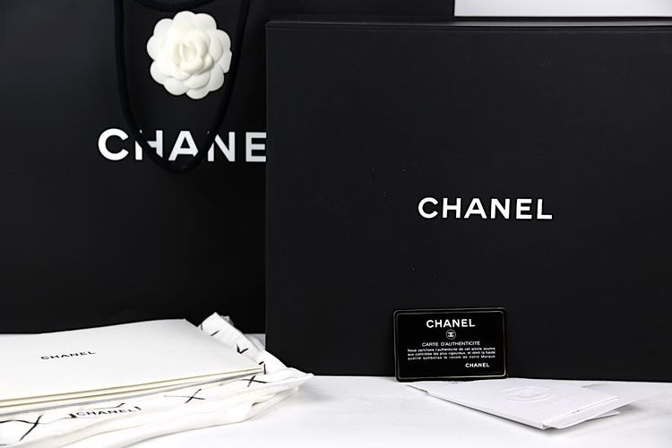 CHANEL Classic Medium Double Flap Väska / med Kvitto 2017