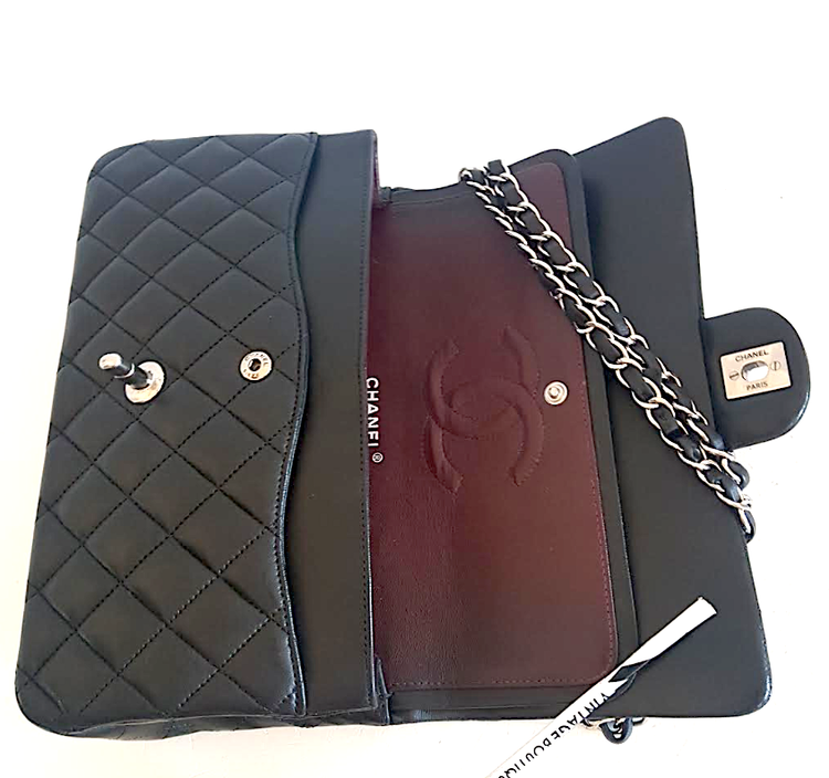 CHANEL Classic Medium Double Flap Väska med Kvitto