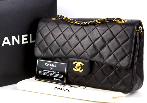 CHANEL Classic Medium Double Flap Väska - kort,dustbag,kartong,äkthetsintyg