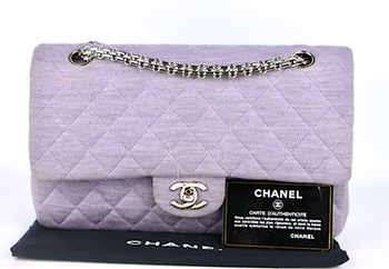 Chanel Double Flap Bomull Väska