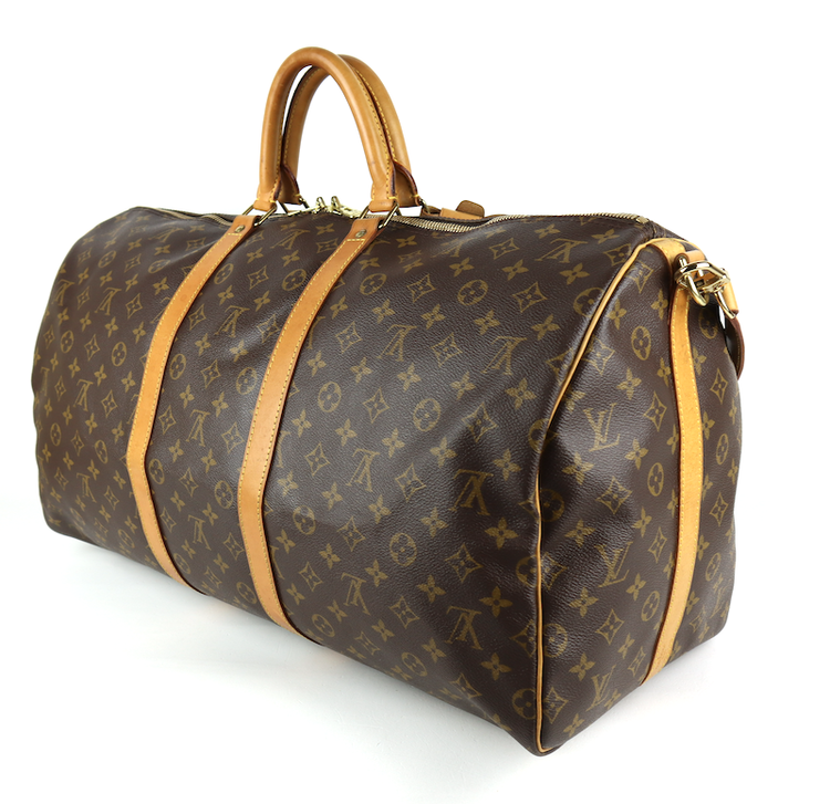 LOUIS VUITTON Keepall 55 Monogram Canvas Väska med Axelrem