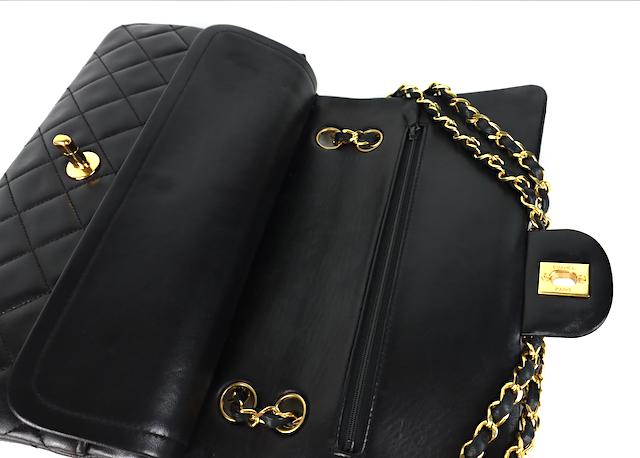 Chanel Classic Medium Double Flap Väska - kort,kartong,äkthetsintyg