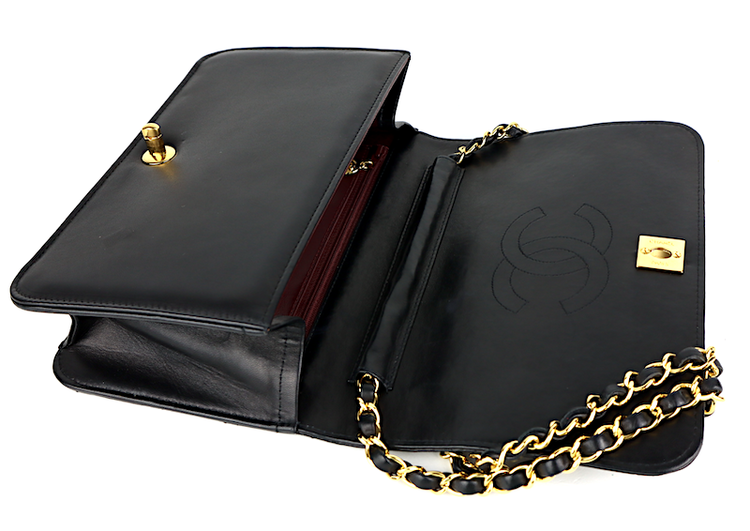 Chanel Single Hel Flap Väska