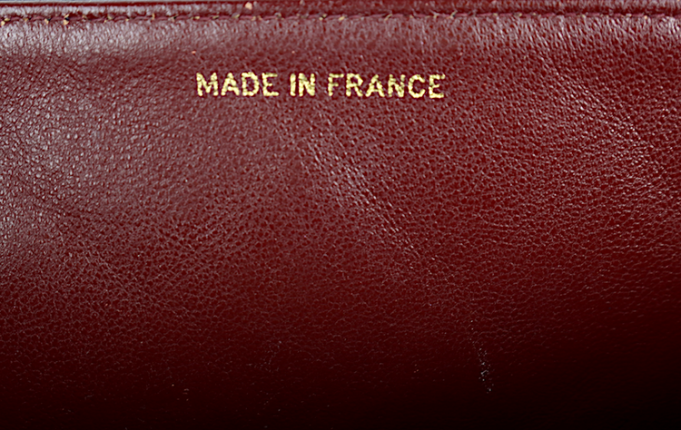 Chanel Diana Medium Mörk Blå Lammskinn Väska