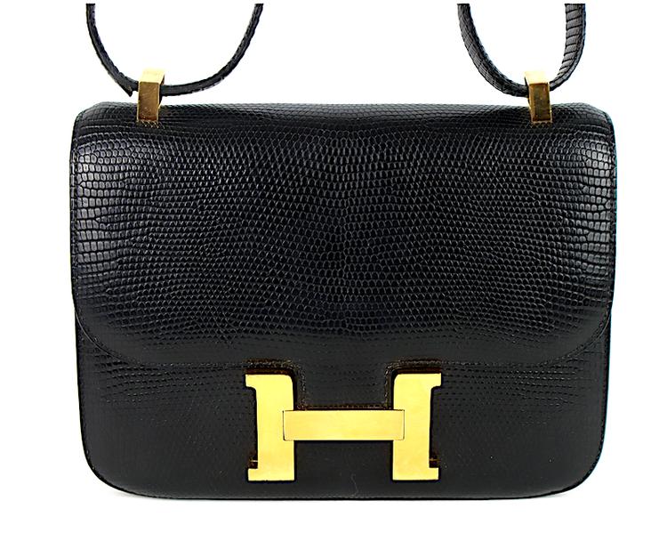 Hermès Vintage Constance Väska / Orm Läder