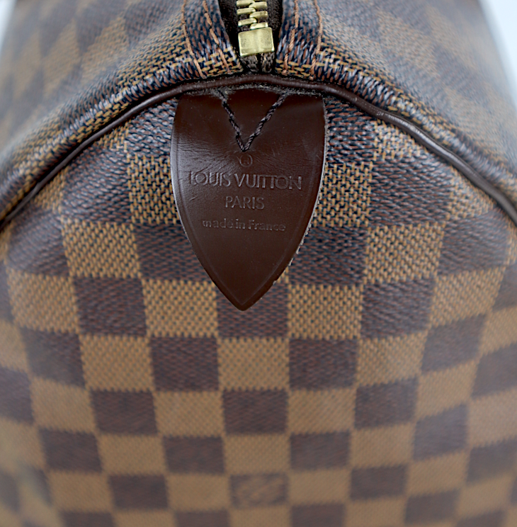 Louis Vuitton Speedy 35 Damier Ebene Canvas Väska