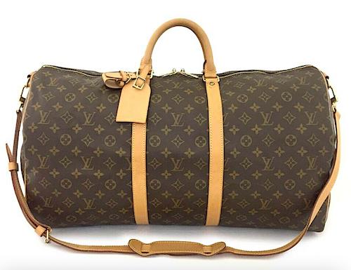 Louis Vuitton Keepall 55 Monogram Canvas Väska med Axelrem