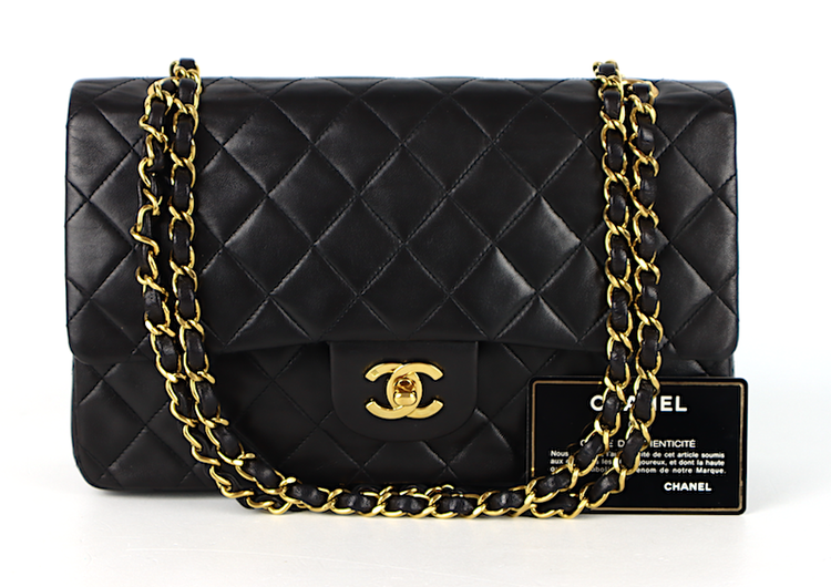 Chanel Classic Medium Double Flap Väska - kort, äkthetsintyg