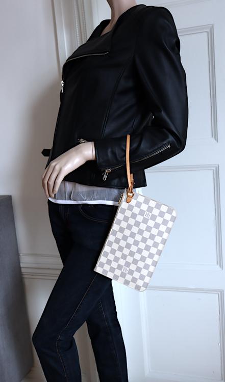 Louis Vuitton Neverfull Pochette Damier Azur Canvas