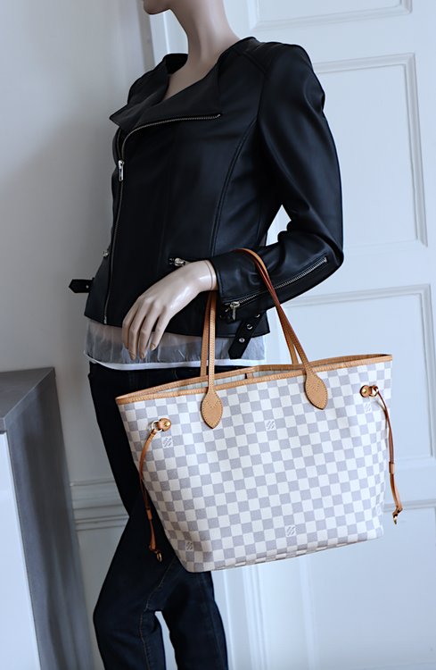 Louis Vuitton Neverfull MM Damier Azur Canvas Väska