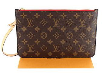 "Louis Vuitton Neverfull Pochette ""Clutch""Monogram Canvas med kvitto"