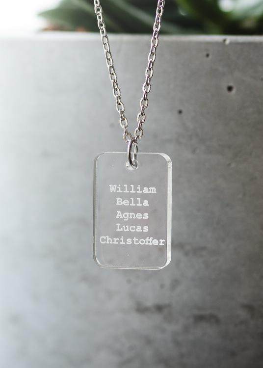 halsband med text