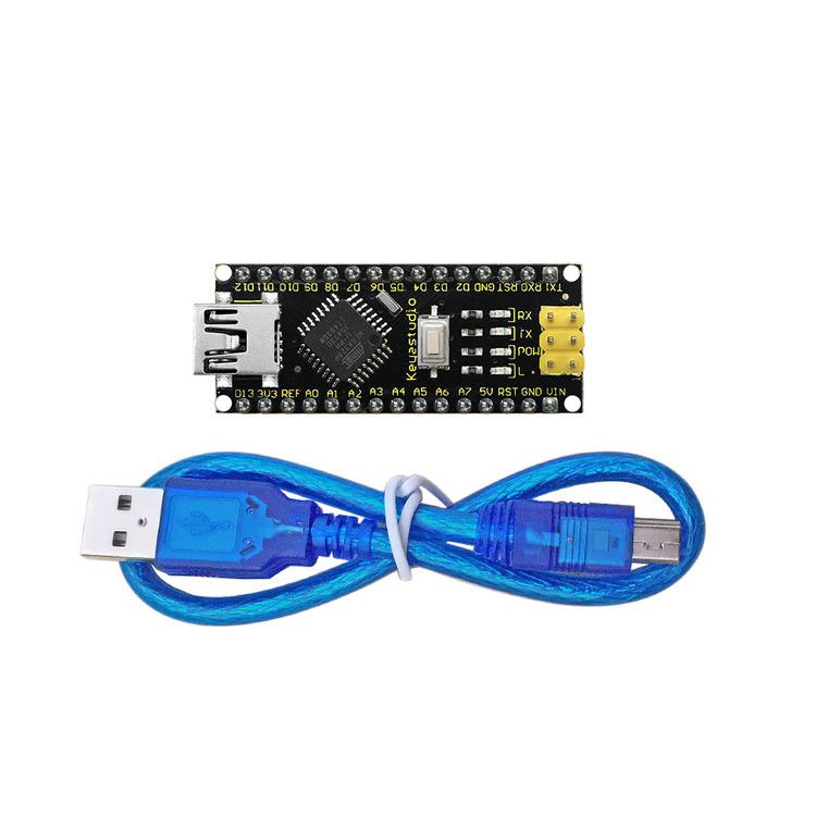 Nano V3.0 med 328P mikrokontroller, kompatibel med Arduino