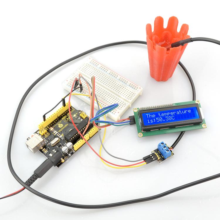 Vattentät temperatursensor med 3st 4,7k resistor