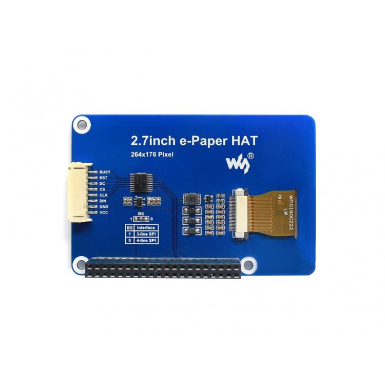 2.7inch E-Ink display HAT for Raspberry Pi, three-color