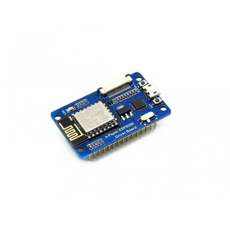 Elektronisk e-paper display med ESP8266 styrkort med