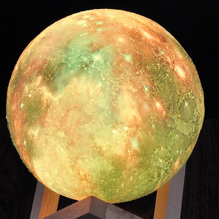 Månlampa LED 3D sfärisk 15cm